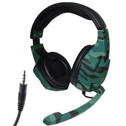 Tucci A3 gaming headphones with microphone - Dark green camouflage MOB1090
