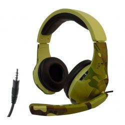 Tucci A4 gaming headphones with microphone - Camouflage light green MOB1100