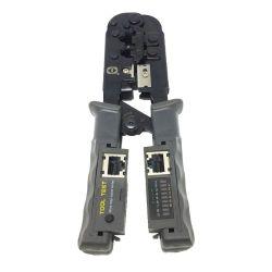 Pinza crimpatrice per Plug RJ45/RJ11 con Tester incorporato P1420