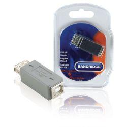 USB 2.0 Adapter USB A Female - B Female Gray ND1035