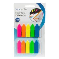 300 adesivi colorati segnapagina 4.5x1.1cm ED4032 Topwrite