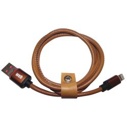 USB cable - Lightning data / power supply in leather - 1 meter MOB1342