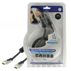 High Speed HDMI Cable with Ethernet HDMI Connector - HDMI Connector 1.00 m Dark Grey HQSS5560-1.0 HQ
