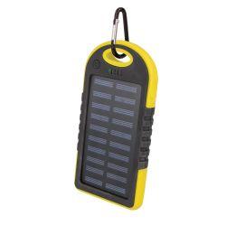 Solar powered Setty Power bank 5000 mAh yellow MOB762