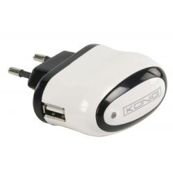 Wall Charger 1-Output 1.0 A 1.0 A USB White / Black ND2195