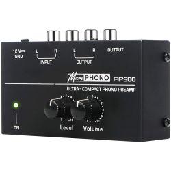 microPHONO PP500 preamplificatore  ultracompatto con controlli di livello e volume V4058