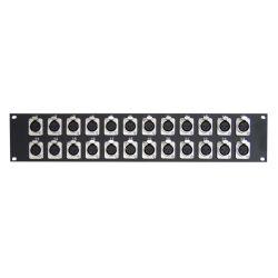 Pannello rack 24 XLR Femmina nero V2023