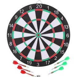 Master Freccette Dartboard - con 6 frecce, tabellone segnapunti in cartone e pennarello Masterdarts ED488