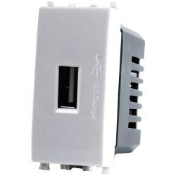 Alimentatore presa USB 5V 2A 4.5x2x4.5cm Bianco compatibile Vimar Plana EL1990