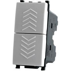 Doppio pulsante 250V 10A Bianco compatibile Vimar EL1992