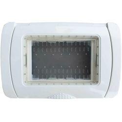 Placca Idrobox IP55 13x8.5cm 3P Bianco compatibile Vimar EL2006