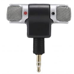 Microfono stereo snodabile 90° jack 3.5mm 3 poli per PC MIC129