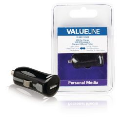 Caricabatterie per Auto Output 2.1 A USB Nero ND9165 Valueline