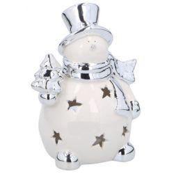 Pupazzo di neve natalizio portacandela Christmas Gifts ED816