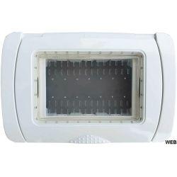 Idrobox IP55 plate 13x8.5cm 3 places White compatible Matix EL2072