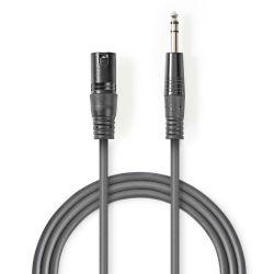 Cavo Audio XLR Bilanciato Maschio a 3 Pin XLR-Maschio da 6,35mm 5m ND4380