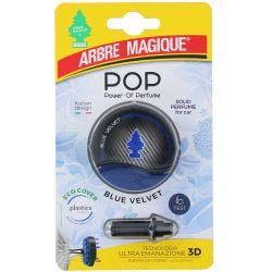 Deodorante Pop per auto Blue velvet Fissaggio bocchette aerazione Arbre Magique ED4113