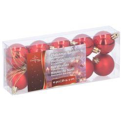 Confezione 10 palline natalizie assortite rosso Christmas Gifts ED4233