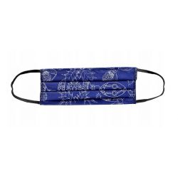 Maschera per il viso riutilizzabile 100% cotone blu A1208