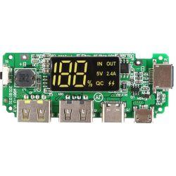 Modulo DualUSB 5V per batterie al litio 18650 con protezione da sovraccarico/cortocircuito WB344