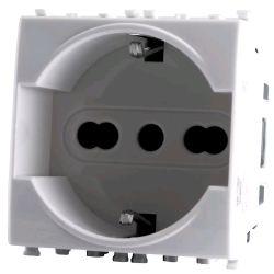 Presa schuko 3.0 bianca compatibile con serie Vimar Plana EL2156