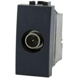 Living International compatible black TV socket EL2308