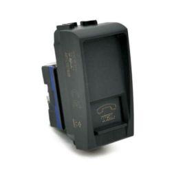 Presa telefonica nera compatibile Living International EL2312