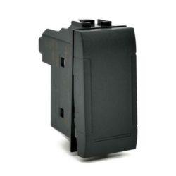 Unipolar push button 10A-250V black compatible Living International EL2316