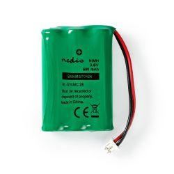 Batteria Ni-MH ricaricabile 3,6V 600mAh connettore cablato ND6724