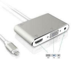Adattatore Lightning - HDMI/VGA/Jack audio 3.5mm WB714