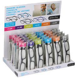Occhiali da lettura varie gradazioni vari colori espositore da 30pz Lifetime-vision ED3336