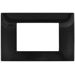 Placa 3 posti nera tecnopolimero compatibile Vimar Plana EL2338