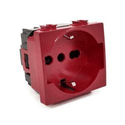 Presa schuko per segnalzione linea dedicata/emergenza rosso compatibile Matix EL2346