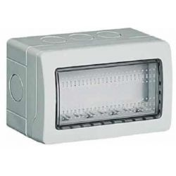 Idrobox IP55 4 moduli bianco compatibile Living International EL2352