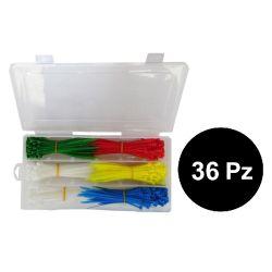36 Pieces - Cable ties kit 550 pieces - 5 colors EL854-36