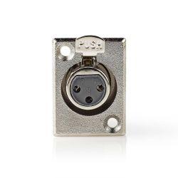 Connettore XLR Dritto femmina diametro 6mm confezione da 25 ND2892