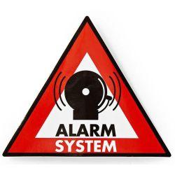 Adesivo di avvertenza simbolo sistema di allarme  5pz ND6966