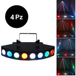 4 Pieces - CREE LED Beam Light 8 RGBW DMX512 Lights RG610-4