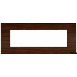 7-seat cherry cover plate compatible with Vimar EL2022