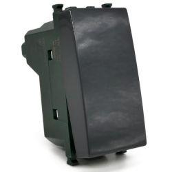 Unipolar diverter 16A-250V black compatible Vimar EL2366