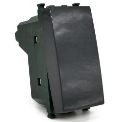 Unipolar button 10A-250V black compatible Vimar EL2376