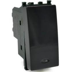 Inverter with indicator light 16A 250V Black compatible with Vimar EL2388