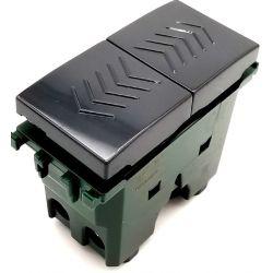 Double button 10A-250V black compatible with Vimar series EL2406