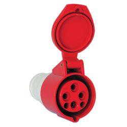 Industrial flying socket HT-214 16A IP44 3P + E 400V Elmark EL2544