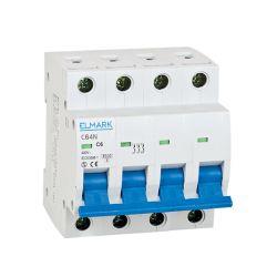 Interruttore magnetotermico 6kA 6A 4P curva C Elmark EL3084