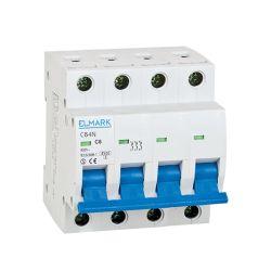 Interruttore magnetotermico 6kA 4A 4P curva C Elmark EL3088