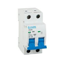 Interruttore magnetotermico 6kA 2A 2P curva C Elmark EL3120