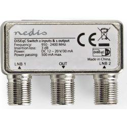 Interruttore DiSEqC 2-1 Connettore F 950-2400MHz ND7150