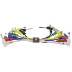 Mono-Audio Cable 6.35mm Male 15cm 6 pieces various colors WB1580