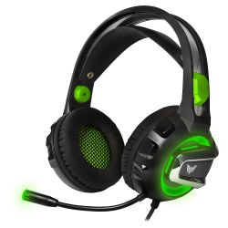 CrownMicro CMGH-3002 Green LED Gaming Headset with Microphone CMGH-3002